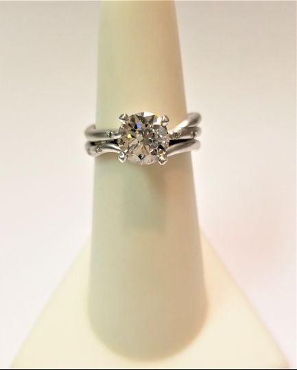 Custom Branch Engagement Ring