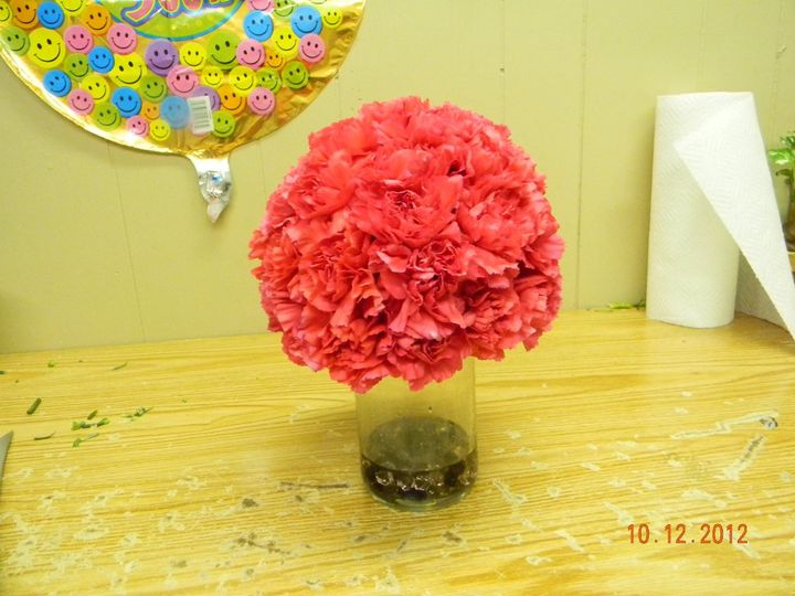 Hot Pink Carnations Kissing Ball