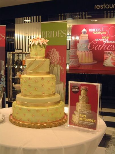 "Featured as One of the ""50 Most Beautiful Wedding Cakes in America"" in Bride's Magazine."