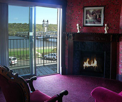 The inn boasts scenic views of the St. Croix River.