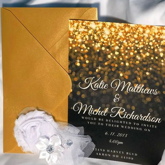 Sparkling invitation