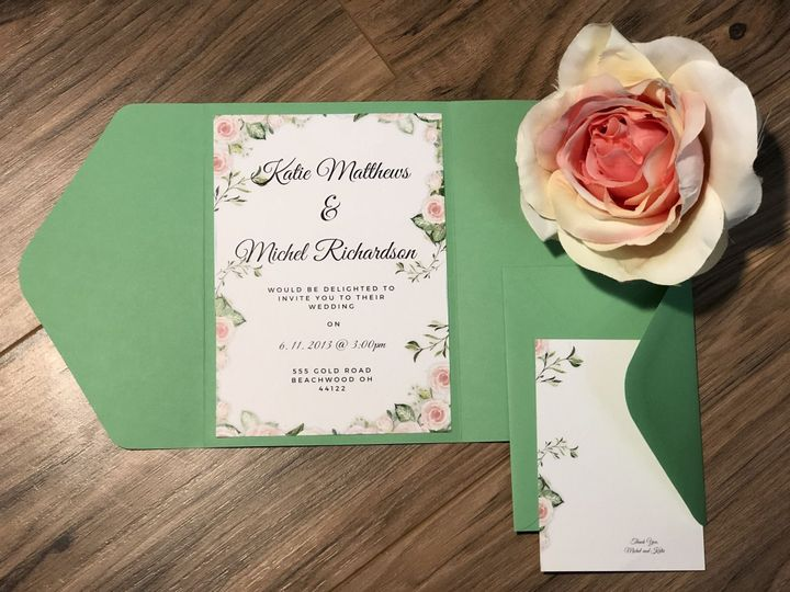 Botanical invitation