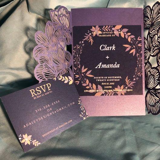 Tmx 1539029102 64ef88ae8d883d45 1539029101 Eb4d0d02e5ef0aa6 1539029100877 2 Untitled Design Cleveland, Ohio wedding invitation