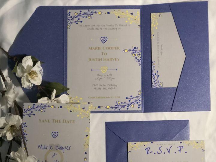 Tmx 1539319610 4814a708ec81e52e 1539319608 Dcd7c59e6876a35c 1539319605305 1 D0A24040 06E4 4F6C Cleveland, Ohio wedding invitation
