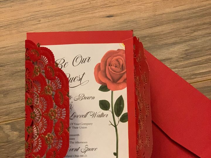 Tmx Be Our Guest Red 51 1017580 V1 Cleveland, Ohio wedding invitation