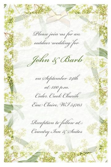 Invitations on handmade mulberry paper