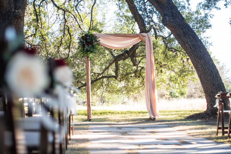 Wedding arch and draping