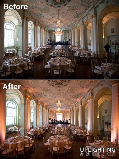 uplighting biltmore ballrooms wedding
