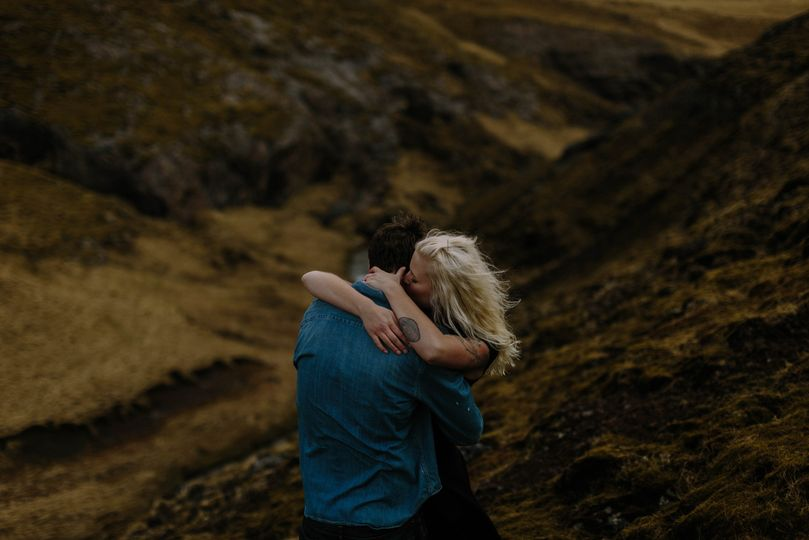 honor and patrick engagement iceland