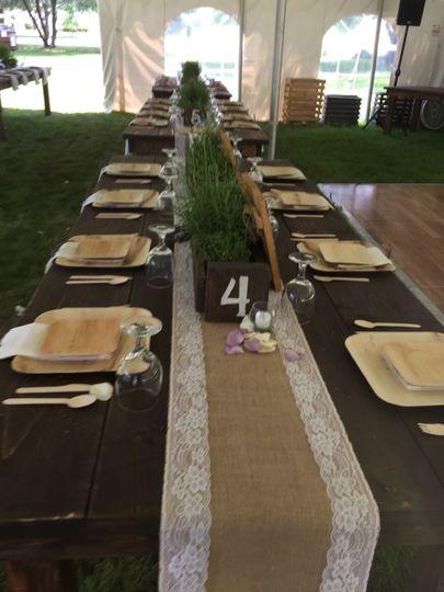 Backyard Wedding. Gorgeous creativity by the bride.