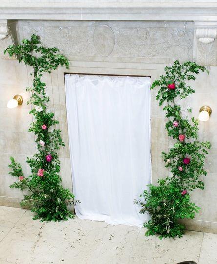 Floral door decor