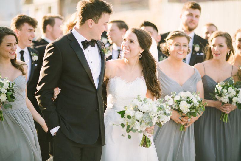 d7a0a85e267fa0d6 16A McKinney Flour Mill Wedding Green Gray White Wedding