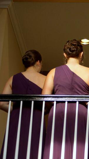 Bridesmaids from bellow
