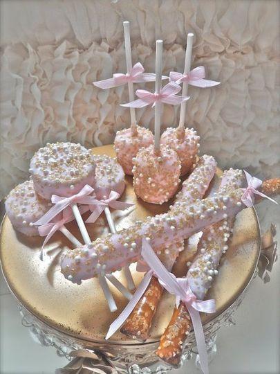 Chocolate Dipped Candy Buffet Treats