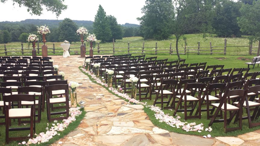 Fruitwood Garden Chairs are perfect for outdoor ceremonys.