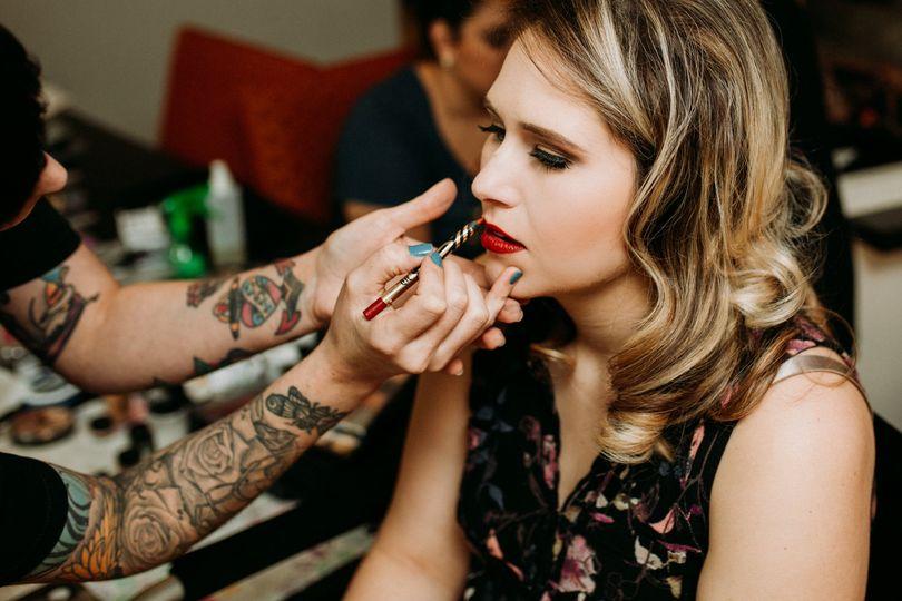 Bride, hair and makeup