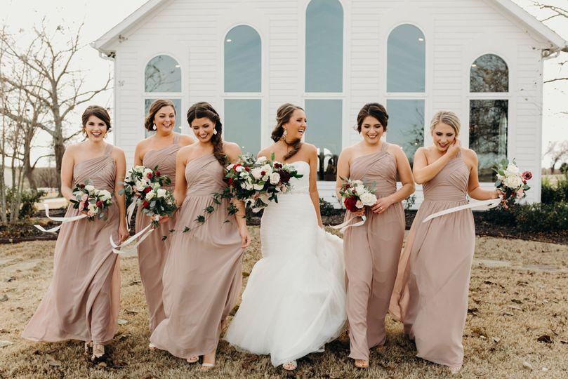 Bridesmaids, blush wedding