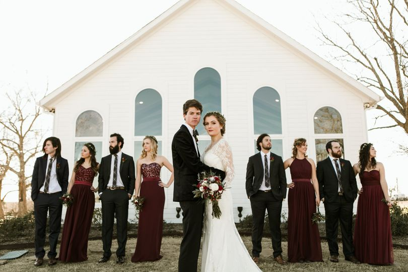 Wedding Party, burgundy, navy