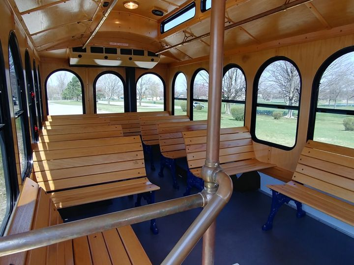 Tmx 24 Trolley Interior 1 51 130780 1568660430 Grand Rapids, MI wedding transportation