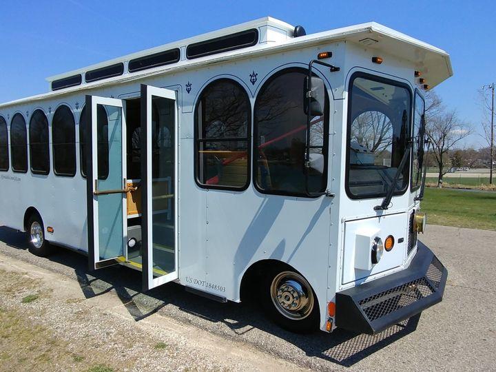 Tmx 24 Trolley Passenger Front 51 130780 1568660437 Grand Rapids, MI wedding transportation