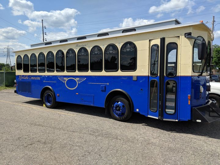 Tmx 30 Trolley Blue Cream 51 130780 1568660467 Grand Rapids, MI wedding transportation