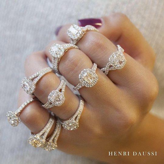 Henri Daussi diamond rings