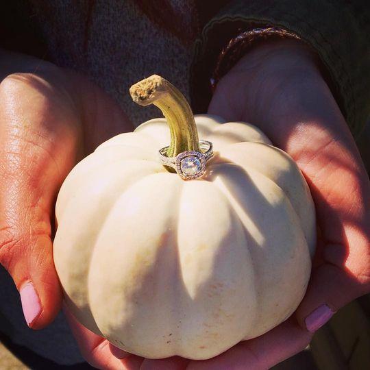 Ring on a pumpkin