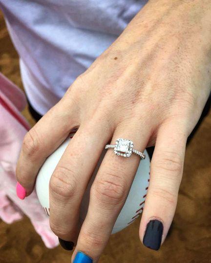 Sleek diamond ring