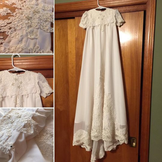 Remade into Christening Gown