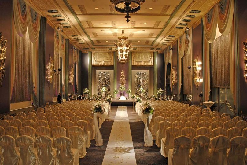 Cream colored ceremony venue
