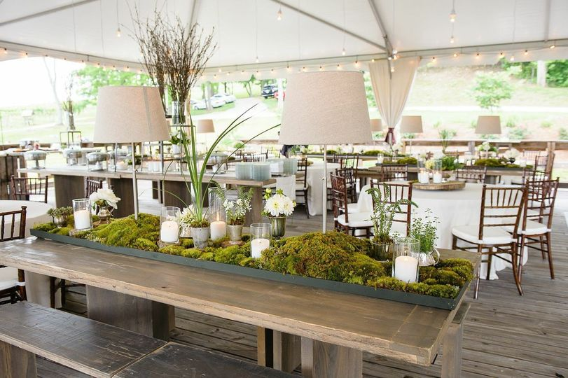 Reception setup outdoors