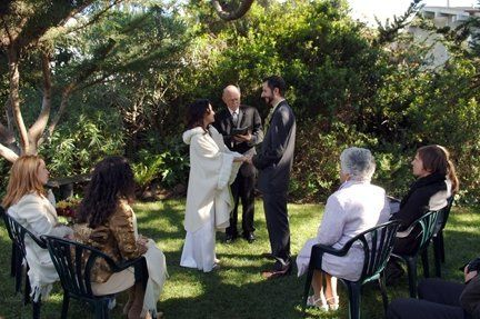 Garden Ceremony With Couple
