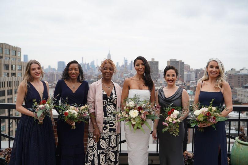 Bridesmaids + mom
