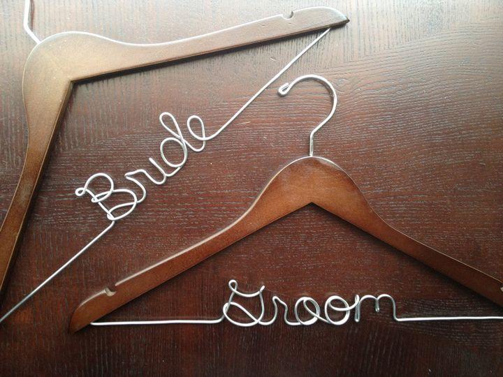 Bride & Groom hanger set