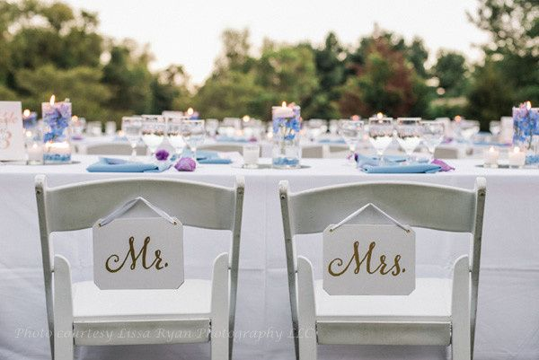 This outdoor wedding took advantage of the couple's beautiful backyard. (Courtesy Lissa Ryan...