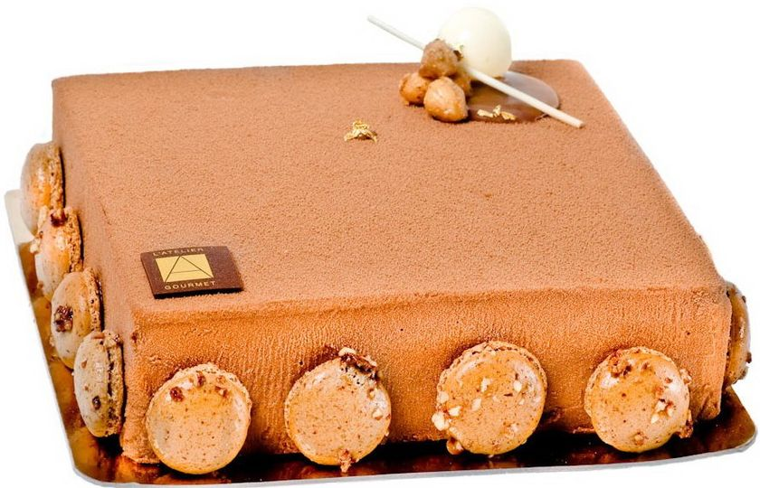 THE BEST SELLER - The Crunchy 	 Milk chocolate mousse, hazelnut praline cream, and crunchy praline...