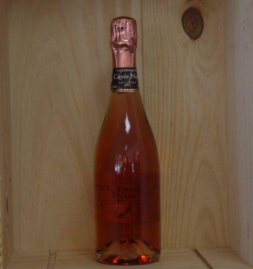 """Champagne Louis de Sacy  """"Cuvée Nue"""" Rose  www.ateliermonnier.com"""