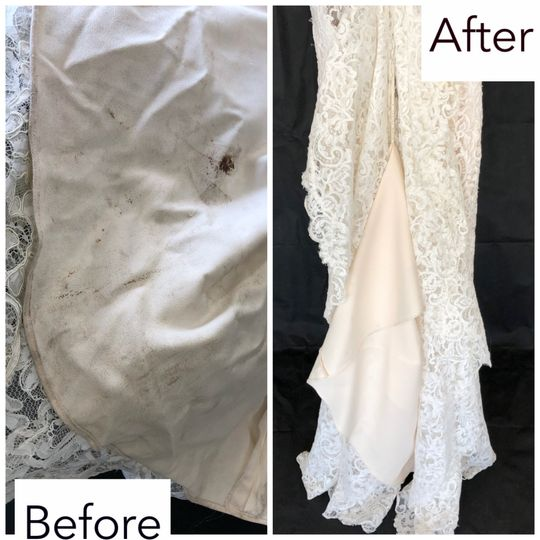Before and after of cleaning