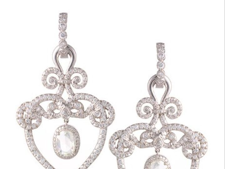 Tmx 1275691169842 PlatinumanddiamondFlowerBasketearringsbyEricaCourtneyGorgreousandEngaged Los Angeles wedding jewelry
