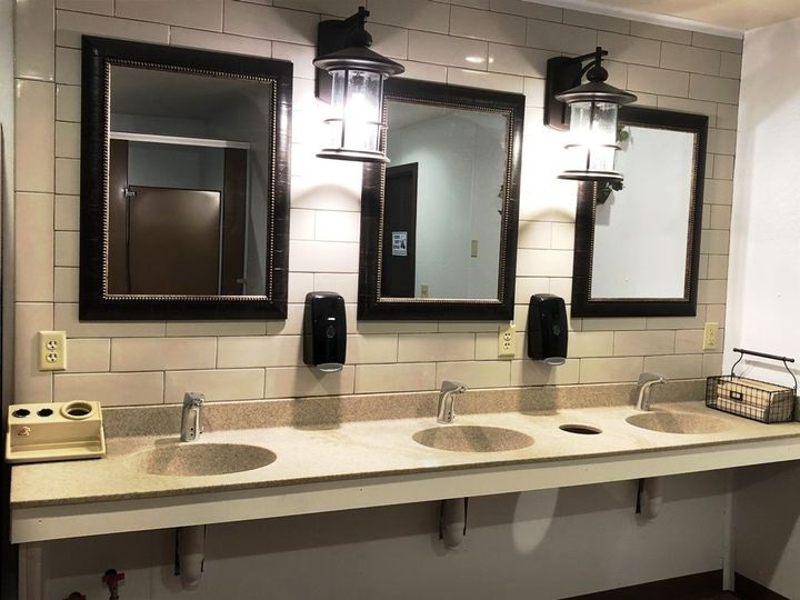 Comfortable and clean commercial restrooms.