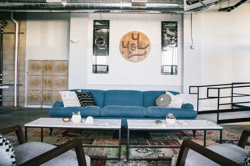 Living room at You & Yours Distilling Co.