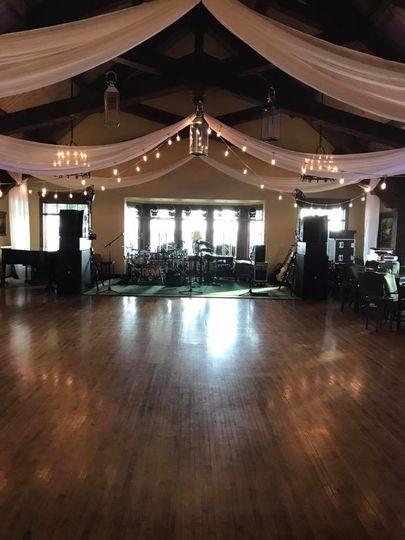 Empty dance floor