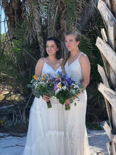 Two Brides - Fort DeSoto Park