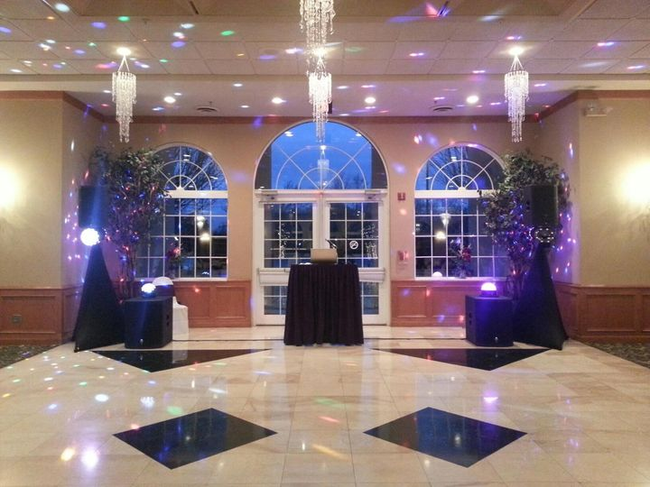 DJ station and dance floor