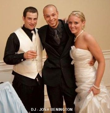 Couple with DJ Josh Benington