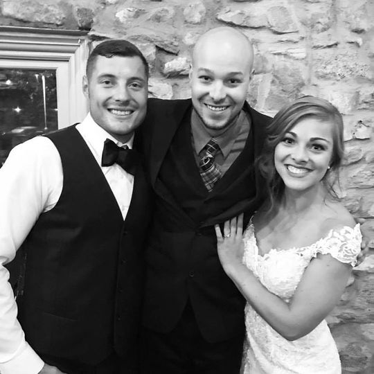 Couple with 10 year wedding veteran DJ, Josh Benington