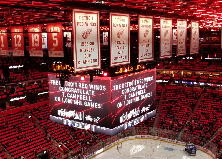 T. Campbell, Official DJ - Detroit Red Wings, 1,000  Games