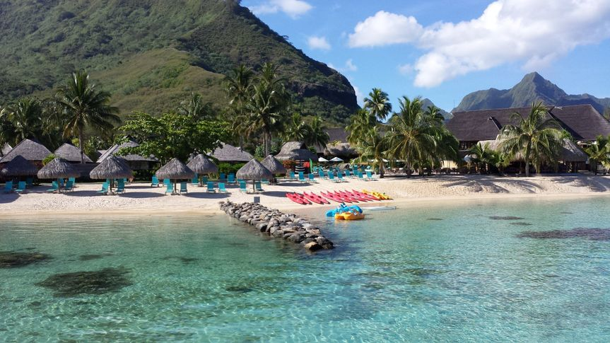 Kristie and Brian couldn't decide if they loved Moore or Bora Bora more but they LOVED the Hilton...