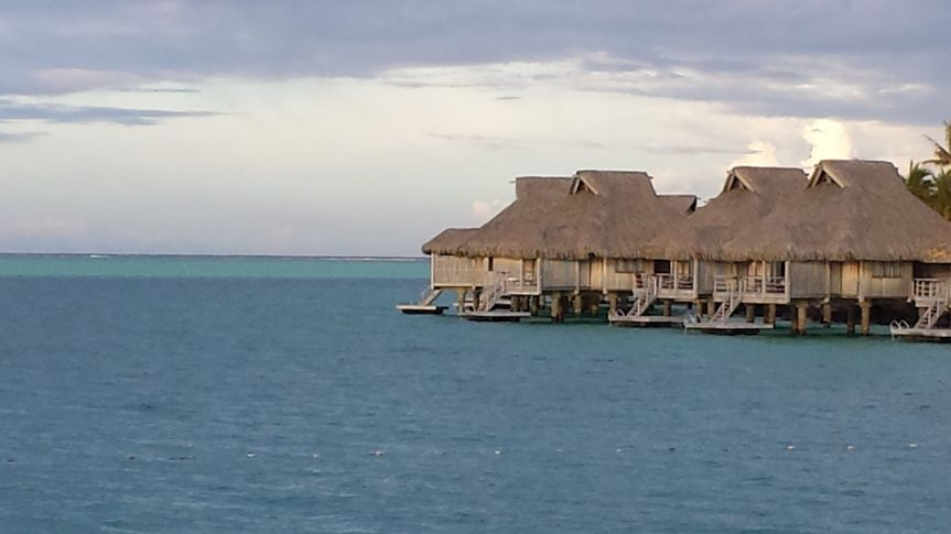 The over water bungalows at the Hilton Bora Bora were fabulous