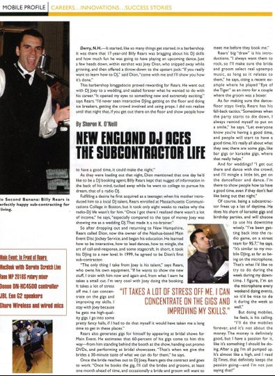 Article about me in DJ Times